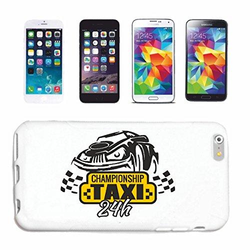 """cas de téléphone iPhone 7+ Plus """"CHAMPIONNAT TAXI 24 HEURES DE SERVICE TAXI TRANSPORT bus à distance"""" Hard Case Cover Téléphone Covers Smart Cover pour Apple iPhone en blanc"""