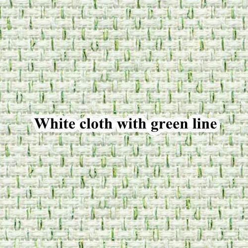 Cross Stitch - 60X80CM 14ct White Cloth Silver line Gold line Blue Pink Cross Stitch Fabric Brilliant Pearl Canvas DIY Handmade Needlework