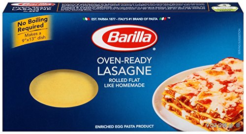 Barilla Pasta, Oven-Ready Lasagne, 9 Ounce (Pack of 12)