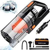 Car Vacuum, CHERYLON Portable Car Vacuum Cleaner High Power 150W/7500Pa for Car Interior Cleaning with Wet or Dry for...