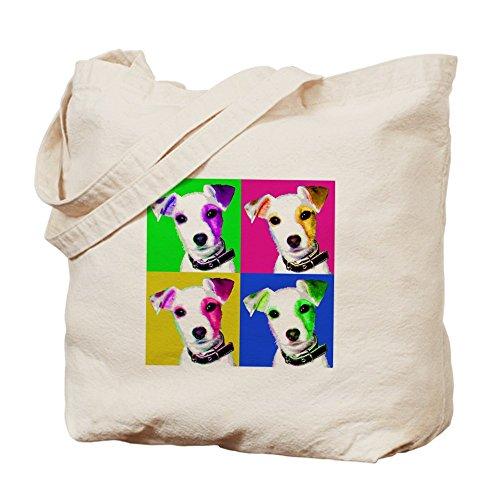 CafePress - Jack Russell Pup - Natural Canvas Tote Bag, Cloth Shopping Bag