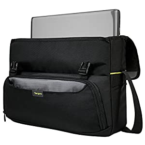 Targus CityGear II Hybrid Messenger Bag with Dome Shock for 15.6-17-Inch Laptop, Black (TCG270)