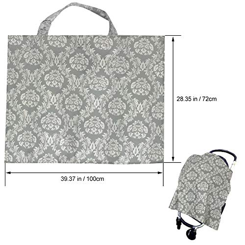 Pasway Nursing Cover for Breastfeeding with Free Pouch - Cotton Apron Cover Up for Feeding Baby (F) by pasway (Image #2)