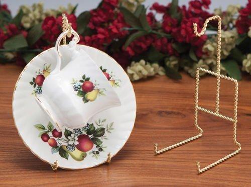 Teacup Display Racks-Set of 3-Brass Plated -