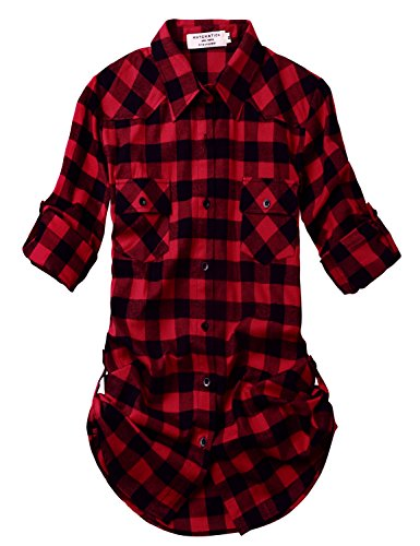 Match Womens Sleeve Flannel Plaid product image
