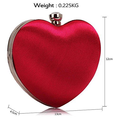 Clutch Bag Heart Diamante Evening Luxury Ladies Handbag New Design Red Party 1 Newlook Stones 5dq0qIEwx