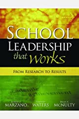 School Leadership That Works: From Research to Results Kindle Edition