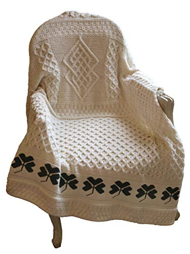 Aran Crafts Shamrock Baby Throw 50x60 Natural (SHAM-THR-NAT)