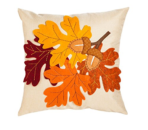 New Creative Leaves and Acorn 18 inch Outdoor Safe Pillow - Add style and comfort to your home or garden with this outdoor safe pillow Made from a polyester-cotton fabric blend Includes 100% mildew resistant polyester insert - patio, outdoor-throw-pillows, outdoor-decor - 51iERRzvxrL -