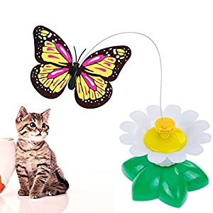 Lictin Butterfly Toy for Cats Electric Rotating Flying Funny Butterfly Cat Toy for Pet Cat