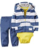 Kidsform Baby Boy Girl 3-Piece Hoodie Jacket Coat+Bodysuits+Pants Leggings Outfits Set