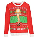 HollyDel Leg Lamp Ugly Christmas Sweater - A Christmas Story | Santa Ugly Christmas Sweater; Clothing