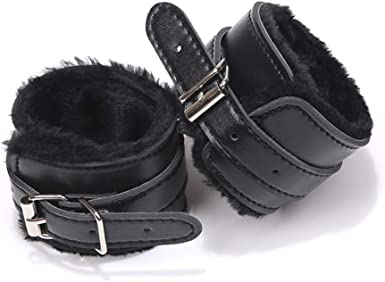 Soft Fur Leather Handcuffs Adjustable