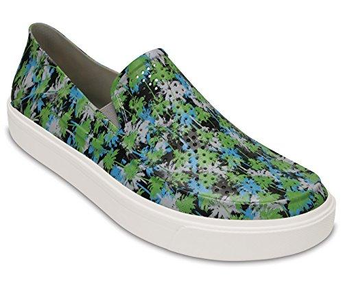 Crocs Citilane Roka Tropical, Slippers Para Hombre Blanco (Electric /                             Blue /                             White)