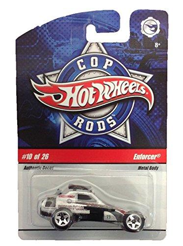 Cop Rods Wheels Hot - Hot Wheels Cop Rods Die Cast #10 Of 26 Enforcer Police Car