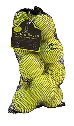 Hyper Pet Tennis Balls for Dogs, Pet Safe Dog Toys for Exercise and Training, Pack of 12, Green