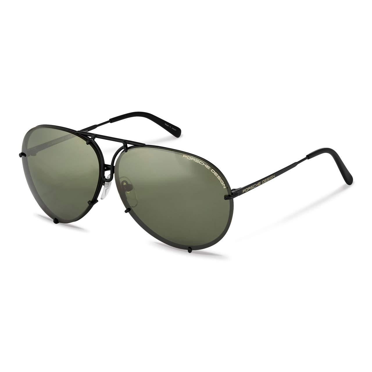 Porsche Design P8478 D P'8478 D Matte Black Pilot Sunglasses 63mm W/Extra Lens by Porsche Design