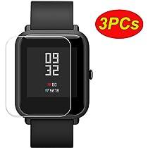 Logobeing 3PCs Pantalla Transparente Protectora Impermeable para Xiaomi Huami Protector Amazfit Bip Youth Watch