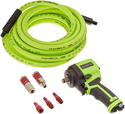 "1/2"" Drive Mini Impact Wrench Kit Air Hose Couplers Plugs Fl"