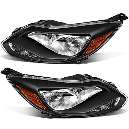 - For 2012-2014 Ford Focus Headlights Replacement Black Housing Amber Reflector Clear Lens (Driver and Passenger Side)