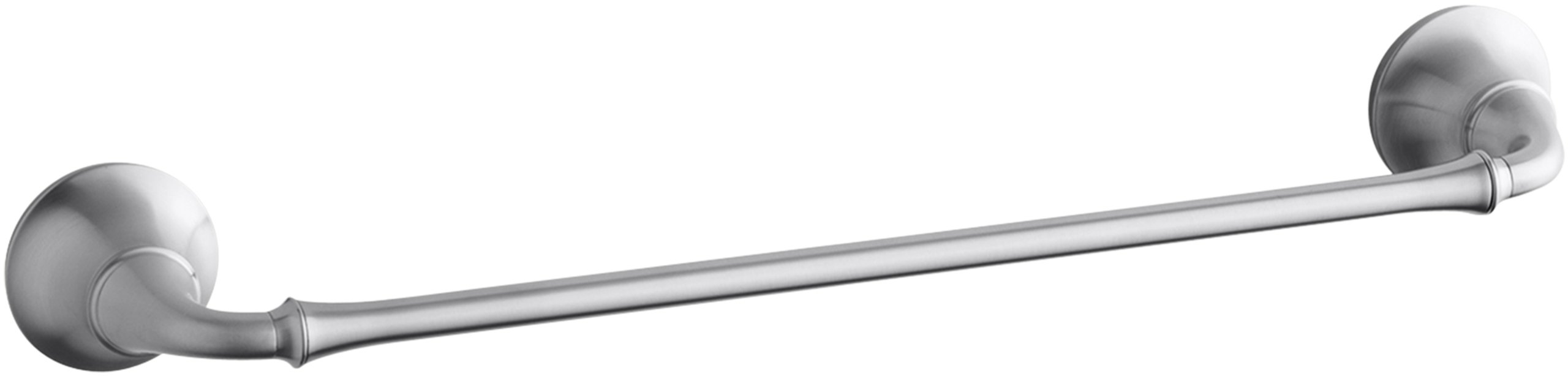 KOHLER K-11270-G Forte Traditional 18-Inch Towel Bar, Brushed Chrome