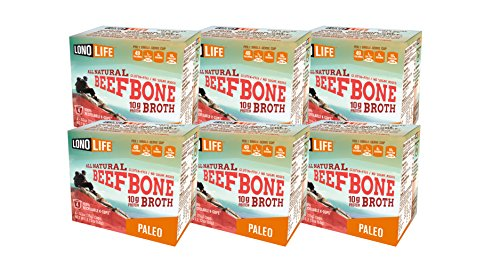 LonoLife Grass Fed Beef Bone Broth 10g Protein - 24 Count Bulk Pack