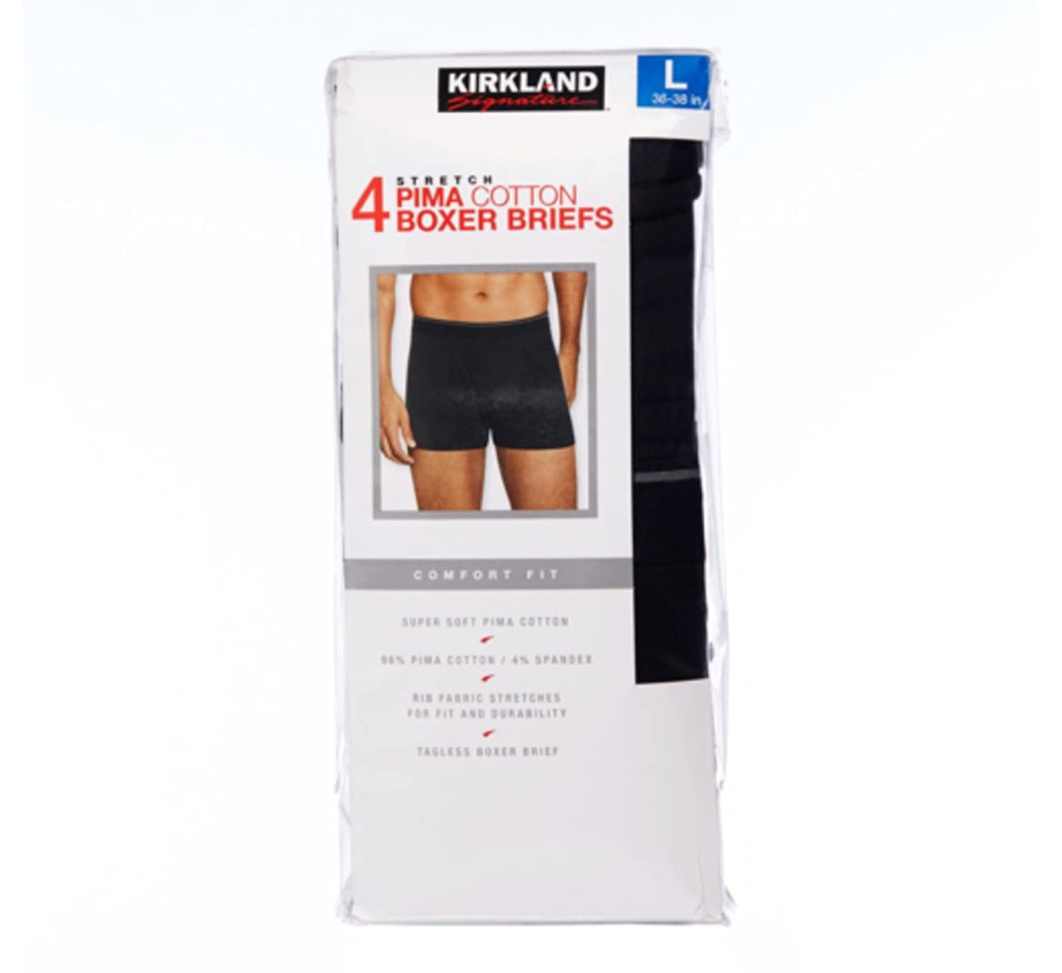 Kirkland black t shirts xl - Kirkland Signature Men S Boxer Brief Pima Cotton 4 Pack At Amazon Men S Clothing Store