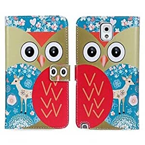 GJY Owl Pattern PU Leather Flip-open Full Body Case with Card Slot for Samsung Galaxy Note 3