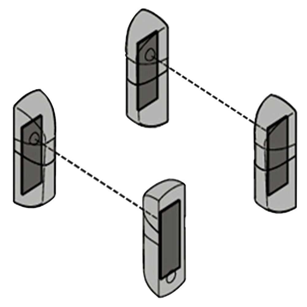 Ociodual Photocellule IR Infrarouge Universelle Portail Garage D/étecteur Yet 609