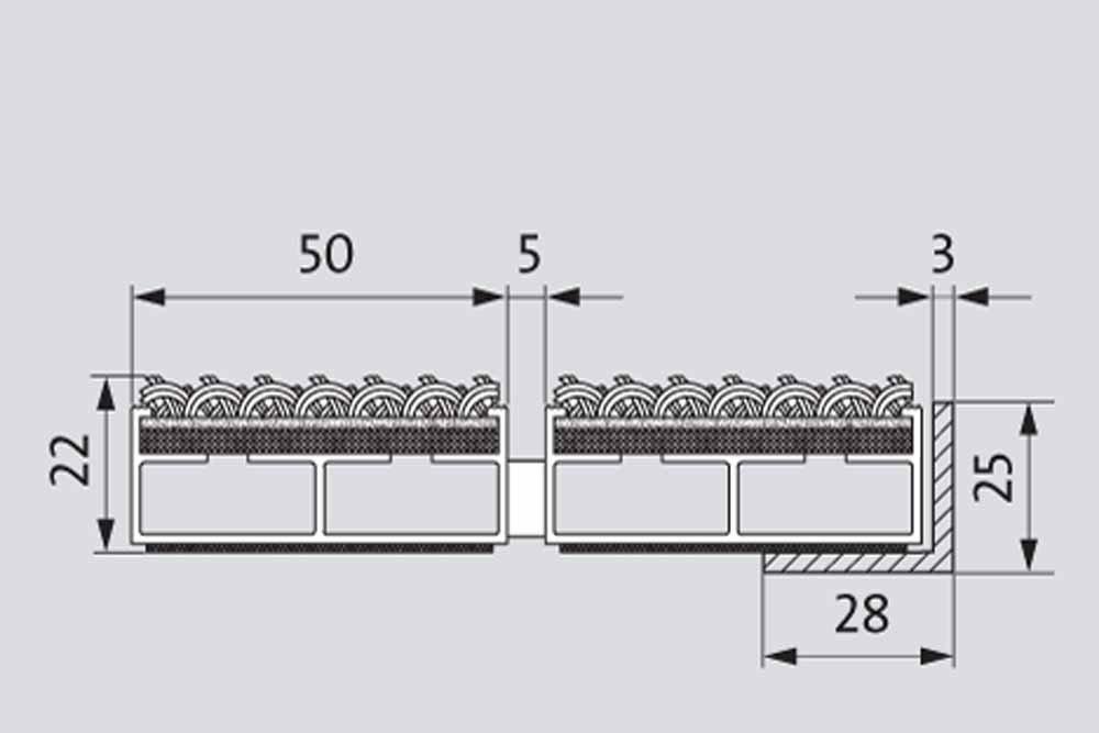 Gr/ö/ße:750 x 500 mm ALU Rahmen Fu/ßmatte T/ürmatte Schuhabstreifer EMCO Eingangsmatte SENATOR Rips 22mm anthrazit