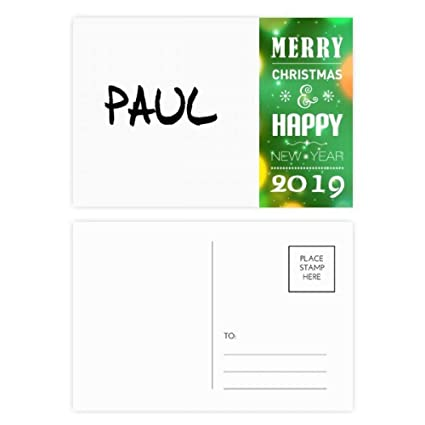 Amazon.com   Special Handwriting English Name PAUL 2019 New Year ... 59145a302