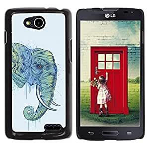 PC/Aluminum Funda Carcasa protectora para LG OPTIMUS L90 / D415 Elephant Art Magnificent Africa Savannah Painting / JUSTGO PHONE PROTECTOR