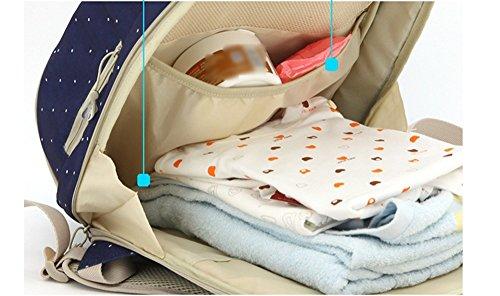 Mummy bolsa mochila multi-funcional de gran capacidad materna y niño bebé para estar embarazada embarazadas bebé salir de la bolsa de la madre de la moda ( Color : Azul ) Khaki