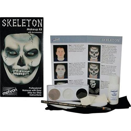 Popcandy Professional Skeleton Character Makeup Kit by Mehron (Womens Skeleton Makeup)