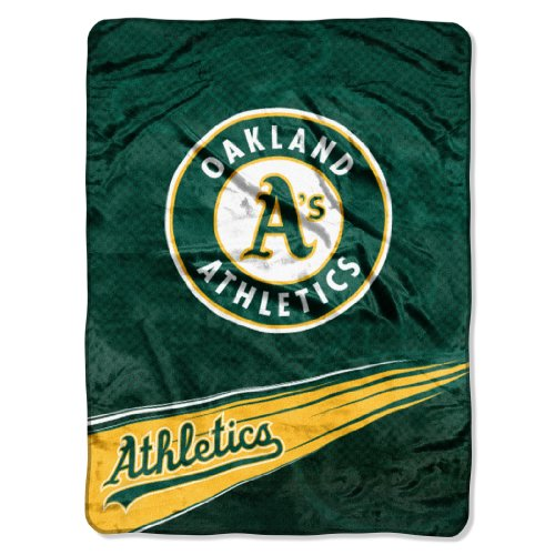 MLB Oakland Athletics Speed Plush Raschel Throw, 60