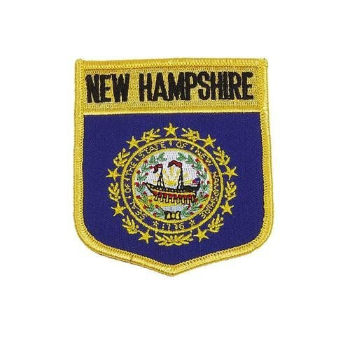 NEW HAMPSHIRE USA STATE SHIELD FLAG EMBROIDERED IRON-ON PATC