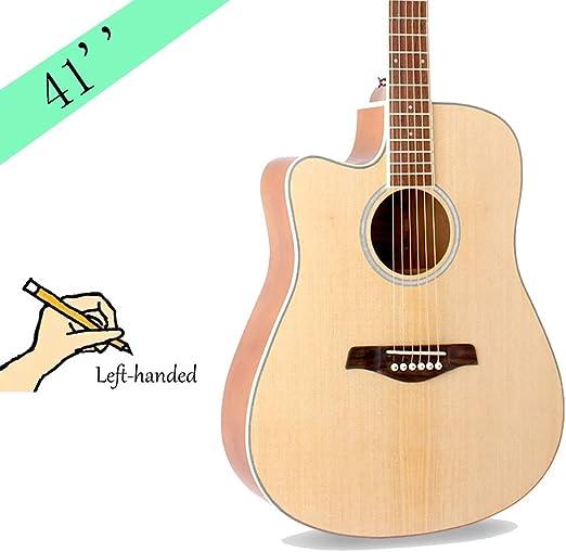YJFENG Acompañamiento Guitarra Acústica Zurdo,Hecho A Mano ...