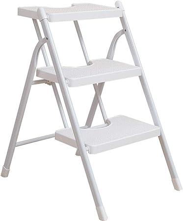 SjYsXm-Step ladder Escalera Blanca Escalera de Mano Escalera de Espejos de Uso Doble Escalera de Escalada de Uso Doble Escalera portátil de Interior Escalera 3 Pasos Escalera Unilateral: Amazon.es: Hogar