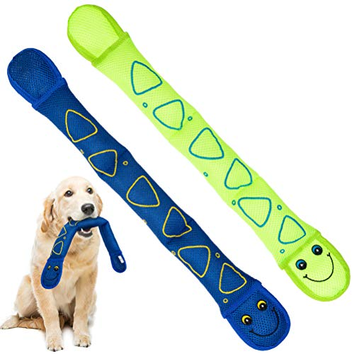 KOOLTAIL Dog Water Pool Toys – Dog Floating Toys Snakes 2 Pack – Interactive Dog Chew Squeaky Toys for Summer Playing