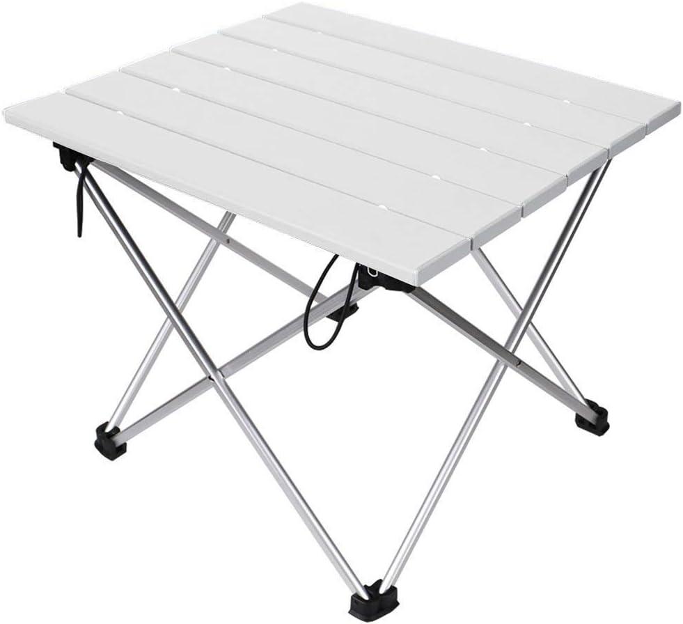 Tragbar Klapptisch Linkax Aluminium Campingtisch mit Tragetasche Heimb/üro Strand Wandern Reisen Garten Grill Maximale Belastung 30 kg f/ür Camping Picknick