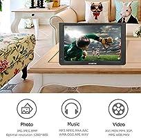 Garsent Televisor portátil de 11.6 Pulgadas, televisor LED pequeño con DVB-T/DVB-T2 Dos bocinas, baterías Recargables de 1500 mAh para el Dormitorio, Cocina.(EU): Amazon.es: Electrónica