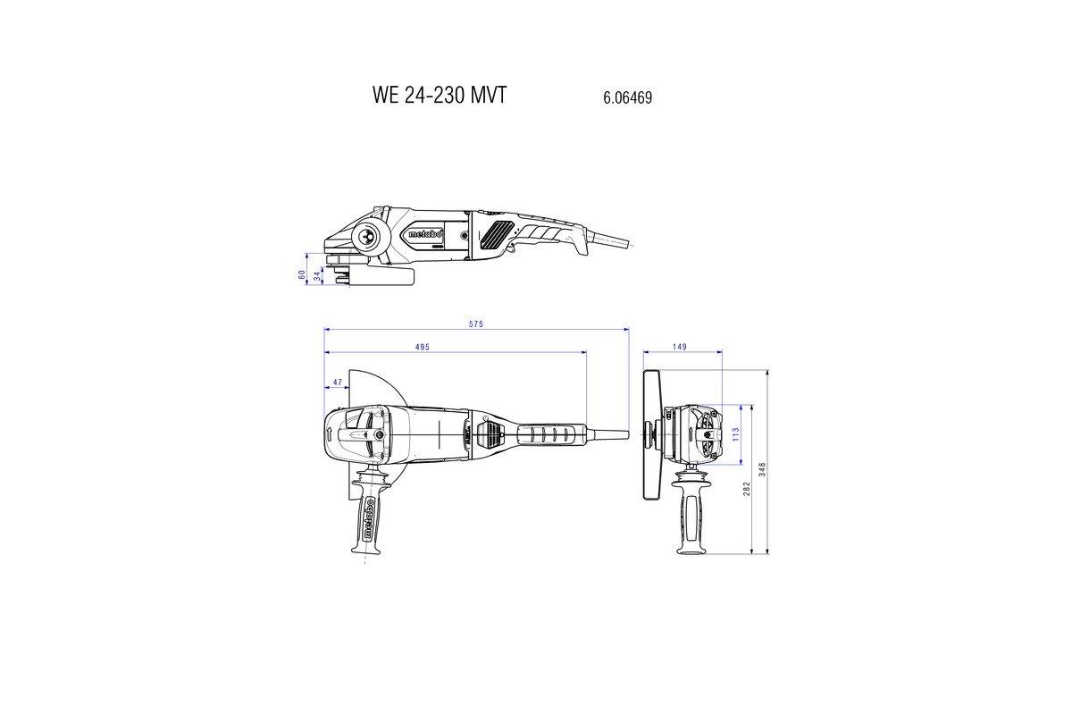 Metabo 606469260 WE 24-230 MVT (606469260) 2400-Watt-Winkelschleifer ...