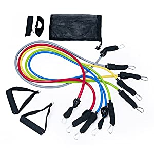 Adeco Toner Resistance Exercise Band, Light to Heavy Option Available