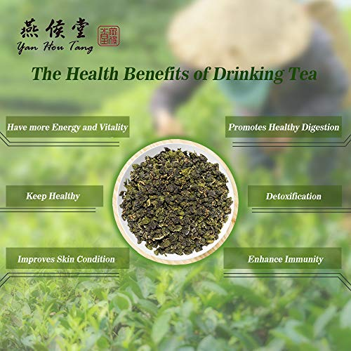 Yan Hou Tang Organic Taiwan Jin Xuan Milk Green Oolong Tea Loose Leaf Butter Cream Style - Green Food Milky Flavor Three Tastes change High Mountain Caffeine Medium for Detox Weight Loss US FDA SGS Verified 150g