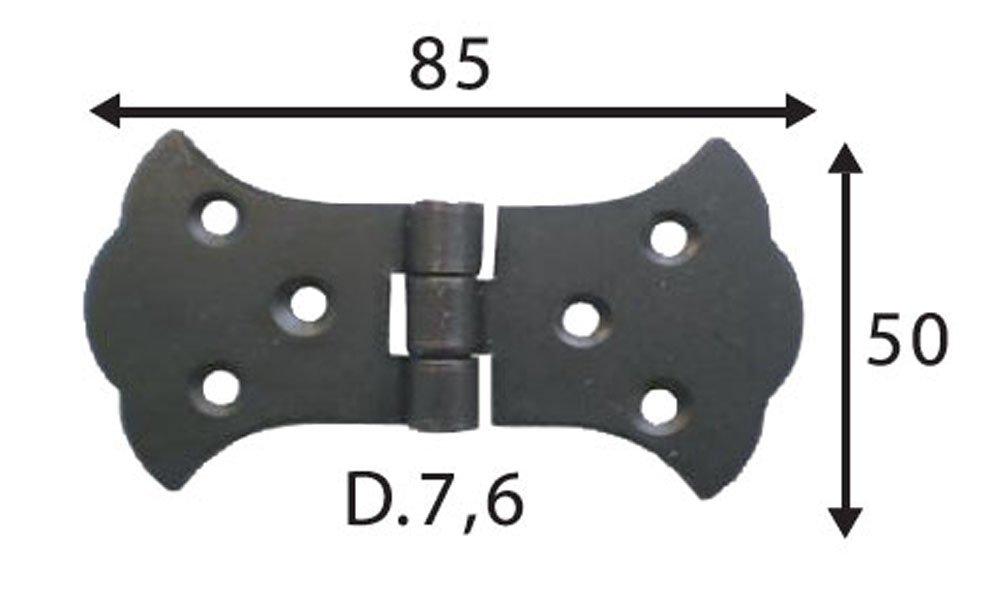 Variante 4 Scharniere br/üniert Torb/änder Scharnier Kistenband Kistenscharniere M/öbelband