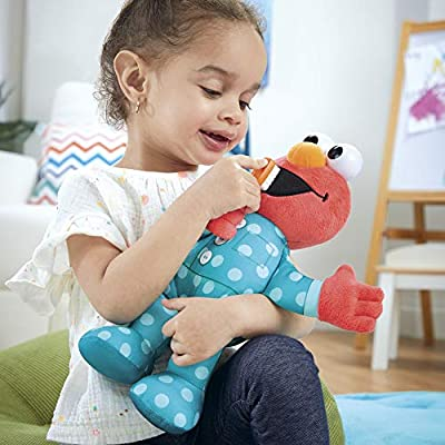 Sesame Street Brushy Brush Elmo 12-inch Plush, Sings The Brushy Brush Song, Toy for Kids Ages 18 Months and Up: Toys & Games