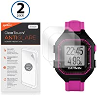 Garmin Forerunner 25 Black/Purple Screen Protector, BoxWave® [ClearTouch Anti-Glare (2-Pack)] Anti-Fingerprint Matte Film Skin for Garmin Forerunner 25 Black/Purple, 25 White/Pink