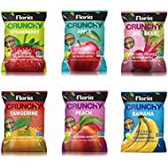 Dried Fruit Crisps, Variety Pack, Healthy Fruit Snacks, 0.63 Ounce Bags (Pack of 10), All Natural, Healthy On The Go, No Sugar Added, Non GMO, Gluten Free, Vegan, Low Carb - Floria Crunchy