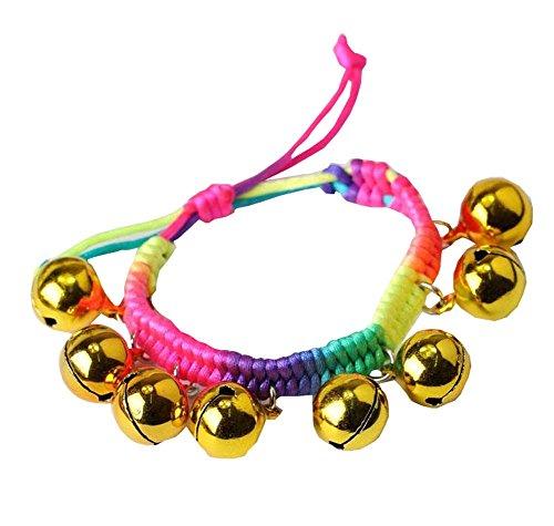 2 Dance Color Gold Bells Rope Bell Rings Anklet PCS Show Bracelet Kids wwf7Fqr