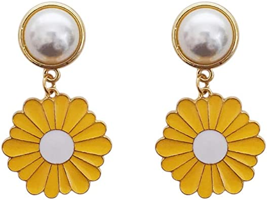 Dainty Gold Filled Earrings  Simple Gold Charm Earrings  Dangle Earrings  Boho Earrings  Gold Filigree Sun Charm Earrings